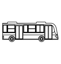 Bus transport urban public outline vector