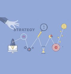 Business and marketing strategy vector