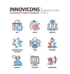 Business finance modern thin line design icons vector image vector image