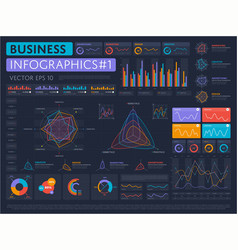 Business infographics set with different diagram vector image