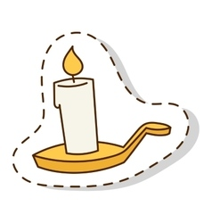 Candle isolated vector