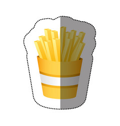 Color fries french fast food vector
