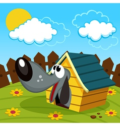 dog in the home vector image