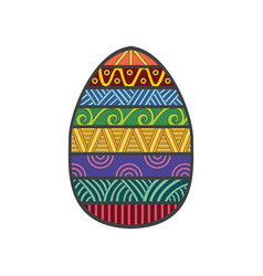 easter egg colorful vector image vector image