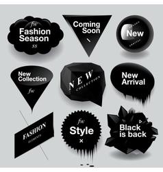 Fashion sale speech bubbles set vector