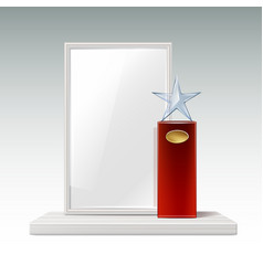 glass star trophy vector image