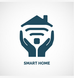 Icon of smart home vector