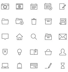 icons in line style vector image