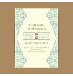 invitation card with blue floral elem vector image