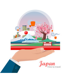 Japan travel poster vector