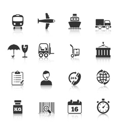 Logistics icons set vector