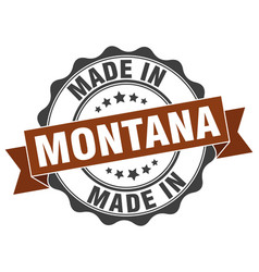 Made in montana round seal vector