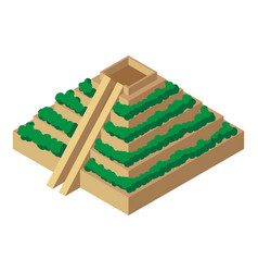 Mayan pyramid icon isometric styles vector