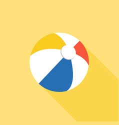 Multicolored beach ball icon vector