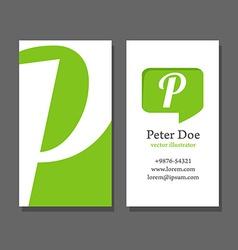 PBusinessCard vector image