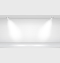 photo studio room empty white interior vector image vector image