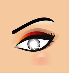 Photographic Eye vector image vector image