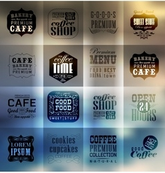 Retro bakery labels and typography vector image vector image