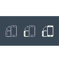 Rotate Smartphone or Cellular Phone or Tablet vector image vector image