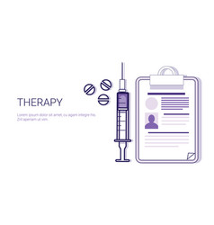 therapy medical treatment business concept vector image