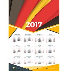 Wall calendar poster for 2017 year design print vector