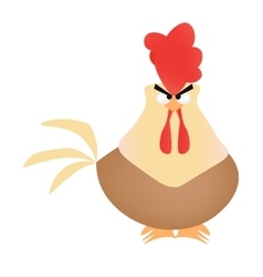 Cartoon rooster on white background vector