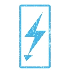 Electric strike icon rubber stamp vector