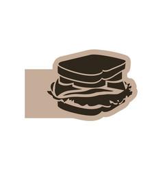 Contour emblem sandwich icon vector