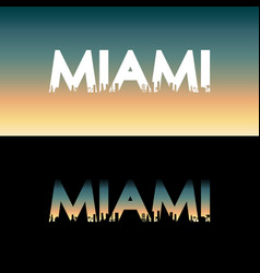 Miami city label vector