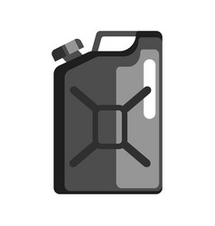 black jerrycan used to store gasoline and vector image