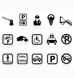 Car parking icons vector