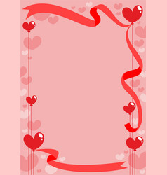 romantic invitation card template vector image