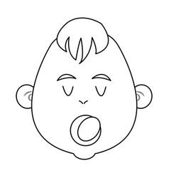Cartoon baby jesus icon christmas design vector
