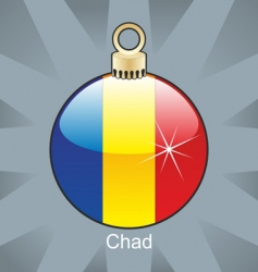 Chad flag in bulb vector