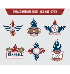 Baseball label sticker vector