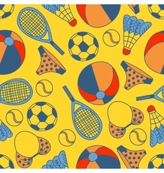 Abstract seamless pattern with hand drawn summer vector