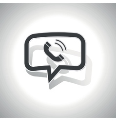 Curved calling message icon vector