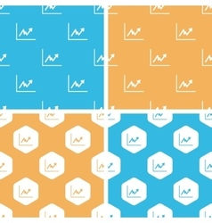 Rising graphic pattern set colored vector