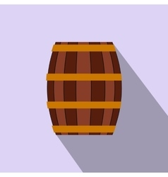 Barrel with honey flat icon vector