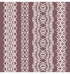 white straight lace set vector image