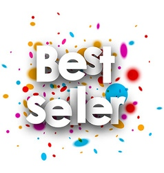 Best seller paper background vector