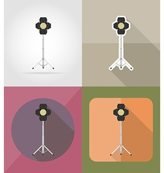 Cinema flat icons 01 vector