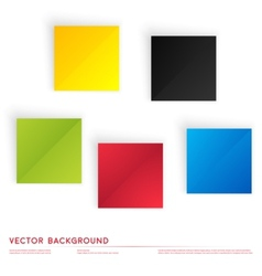 Abstract geometric shape from color cubes vector image