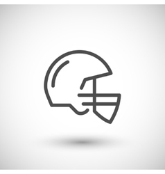American football helmet line icon vector image
