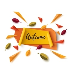 Autumn banner with abstract leafs vector