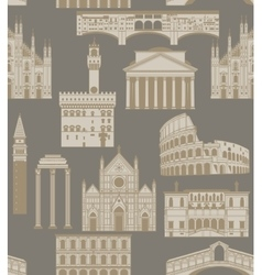 background with famous Italian landmarks vector image