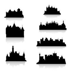 Castle silhouette vector