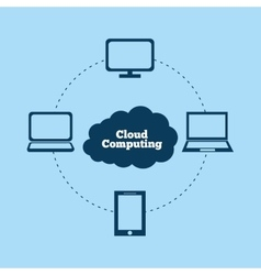 Cloud computing and hosting design vector image vector image