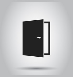 exit door icon on isolated background business vector image