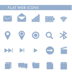 flat web icons 1244244 vector image